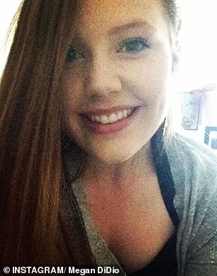 Megan DiDio, 22 (pictured), of Red Bluff, California, went to the dermatologist to get a mole checked in June 2018 at the father's insistence