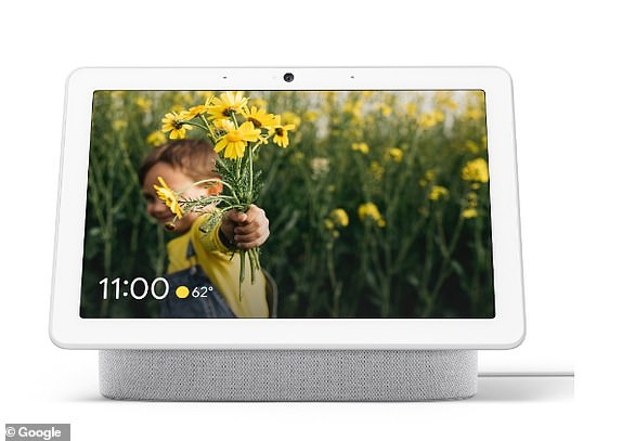 The Nest Hub Max has a built-in camera with a wide-angle lens and 10-inch display
