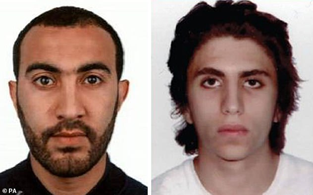 Rachid Redouane (pictured left), 30, was the terrorist who stabbed nurse Helen Kennett and killed waiter Alexandre Pigeard. One of his accomplices Youssef Zaghba, 22, is pictured right