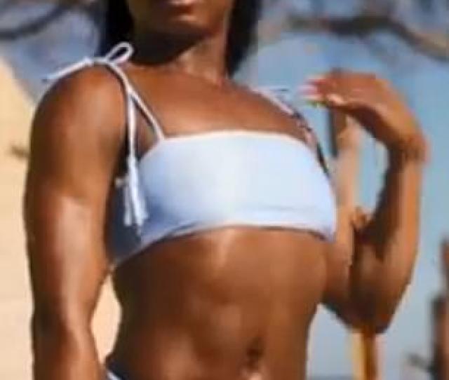 Olympic Gymnast Simone Biles Shows Off Very Fit Bikini Body In The