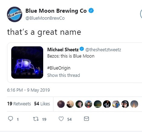 Blue Moon Brewing Co responded with its own hilarious tweets after the announcement