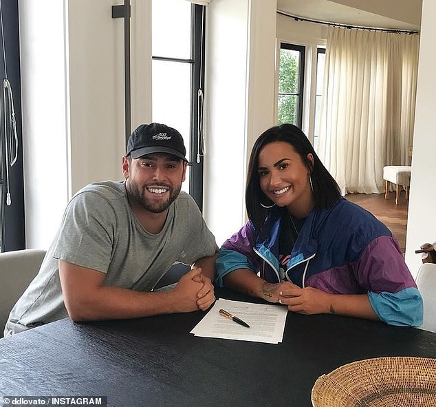 New dirction: Back in May she announced tha she signed with Scooter Braun whose impressive client list includes the likes of Ariana Grande, Justin Bieber, and Kanye West
