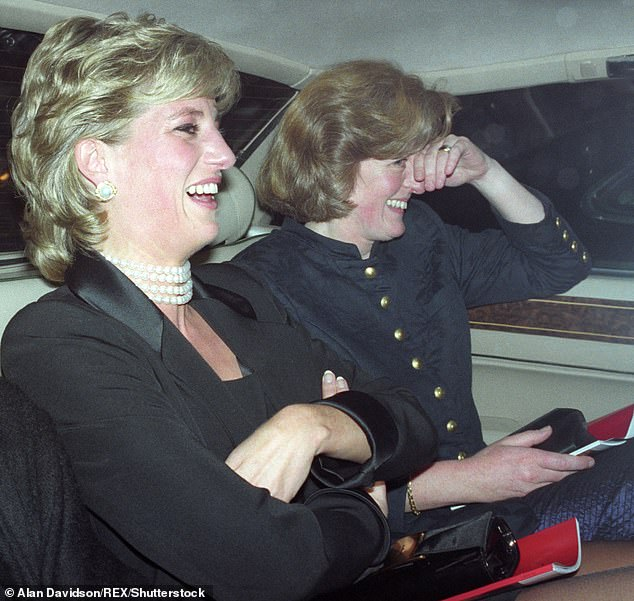 Princess Diana, pictured here with her sister Lady Jane Fellowes in 1995, has been on Prince Harry's mind this past week since the birth of his son. The Duke and Duchess of Sussex have made several tributes to the late royal