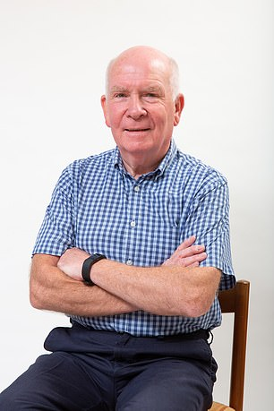 Pioneering: Gerald Capon, 71, tested a new drug that kills cancer cells when activated by light shone on the prostate