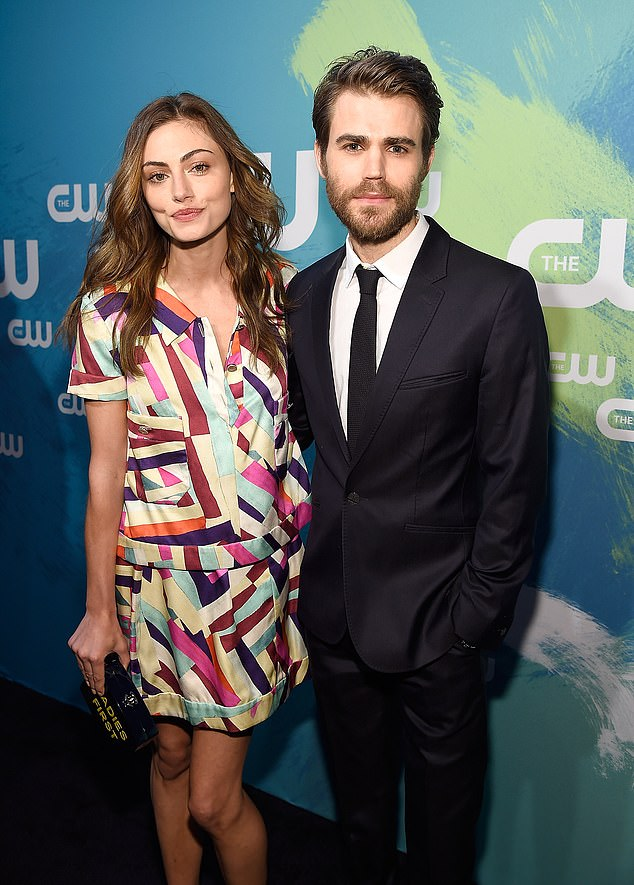 Moving on: After Paul Wesley divorced Torrey, he moved onto Vampire Diaries co-star Phoebe Tonkin between 2013-2017 (pictured 2016)