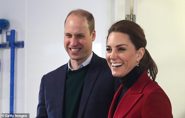 Aunt and uncle: The Duke and Duchess of Cambridge, pictured in Anglesey last week, are believed to have visited their nephew for the first time earlier this week