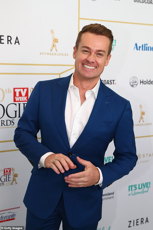 Back with a bang! Celebrity Name Game is hosted by Grant Denyer (pictured), who was previously quizmaster on Family Feud between 2014 and 2018