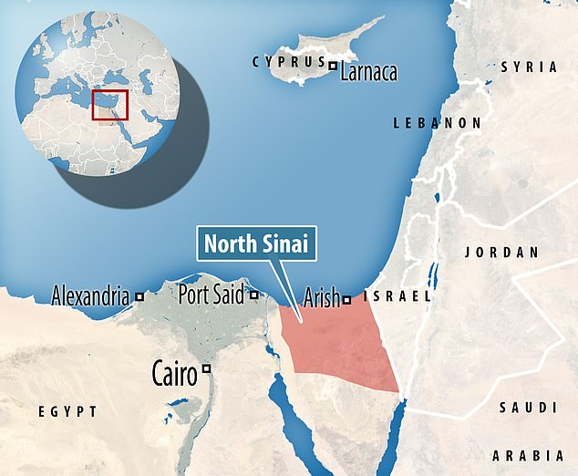 Discovered in North Sinai (pictured), the fortress is believed to date to the Psamtik era - the last before the Persian invasion in 525 BC and could have protected it from the invaders beyond the eastern border