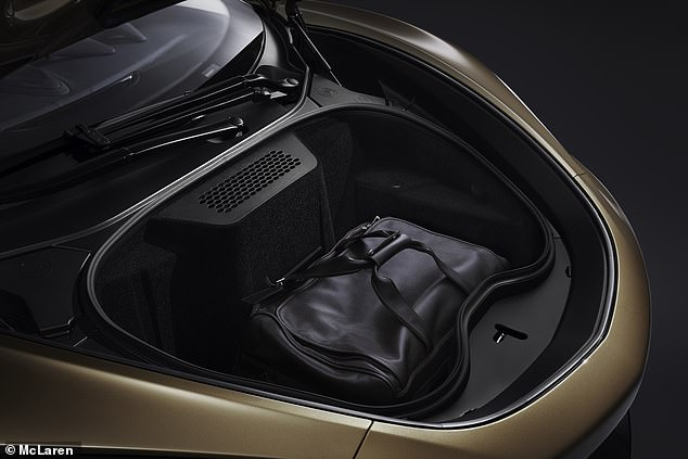 There's a 150-litre front storage space too, meaning the McLaren GT has more combined luggage space (in theory) than a BMW 5 Series Touring
