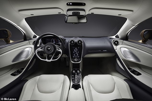 Inside the cabin, it looks very similar to the 570S and 570GT, with which it shares its DNA
