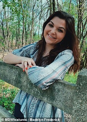 Madelyn Frederick, 20 (pictured), from Dallas, Texas, was always known as the 'clumsy' member of her family