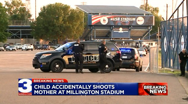 The eight-year-old boy came upon McFarland's gun inside a vintage Jeep that had been on display at Millington USA Stadium in Tennessee while attending a baseball game Tuesday