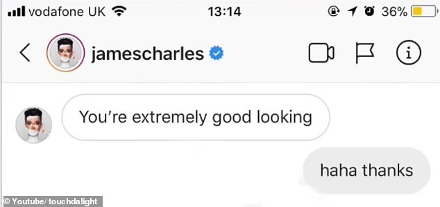 Carmie Sellitto post from James Charles