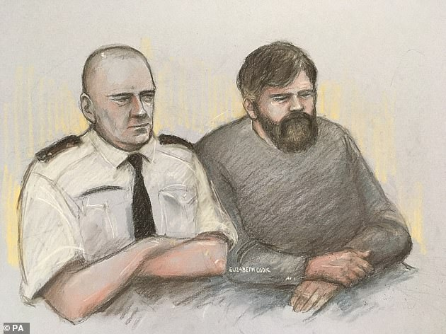 Court sketch of Carl Beech, 51, from Gloucester, known as Nick, at Newcastle Crown Court