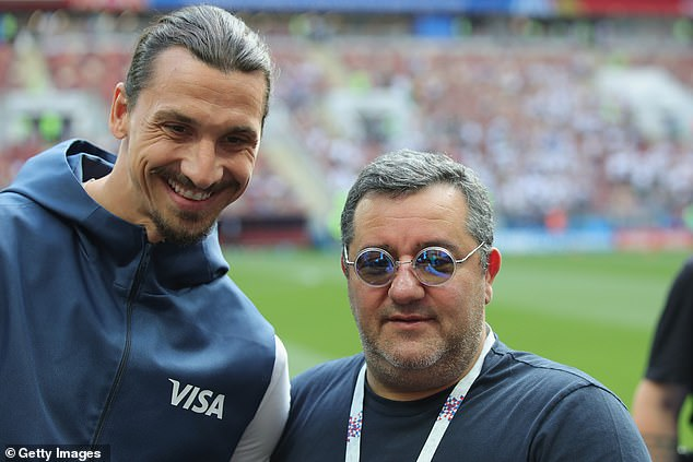 Zlatan Ibrahimovic (left), along with Paul Pogba, are some of Raiola's big-name clients