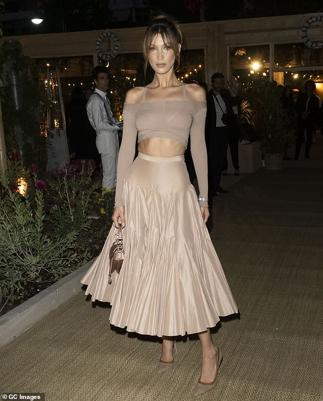 Wow:Bella Hadid attended the Dior And Vogue Paris dinner during the 72nd annual Cannes Film Festival on Wednesday night