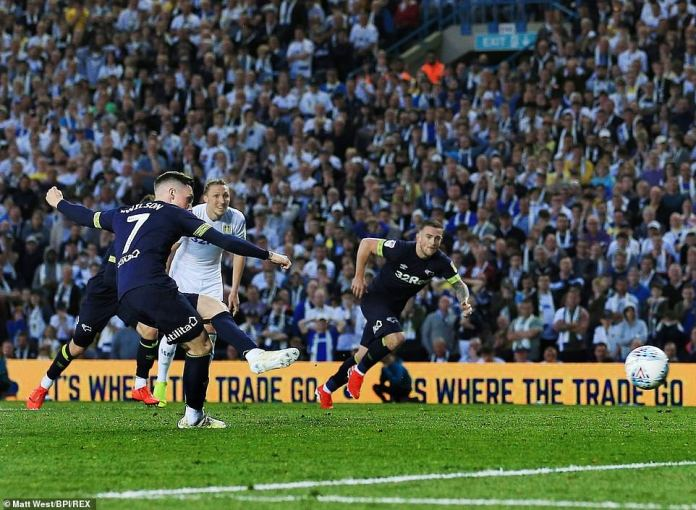 Harry Wilson kept his cool to dispatch a spot kick and put Derby in front on aggregate for the first time in the tie