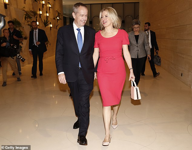 Bill Shorten (pictured with his wife Chloe in Perth) will make the case for a 'vote for change' in his final major address of the election campaign