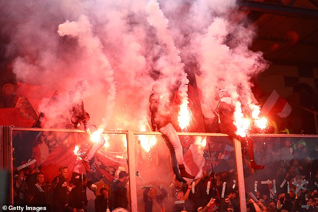 There were eye-catching celebrations in the stands as Ajax beatDe Graafschap on Wednesday