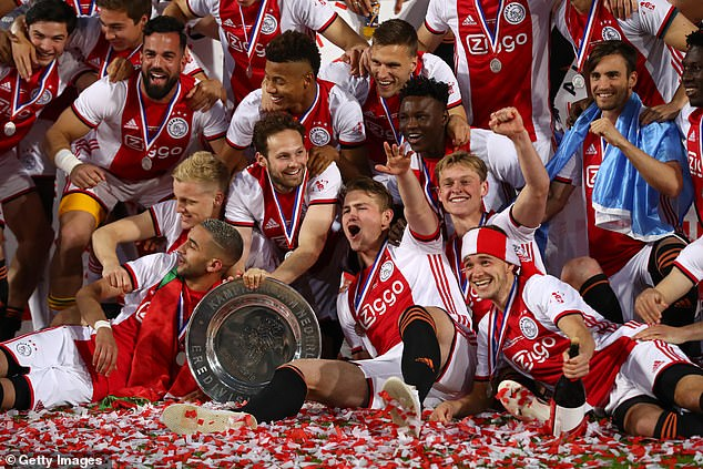 De Jong and team-mates likeMatthijs de Ligt (centre) are set to leave the club this summer