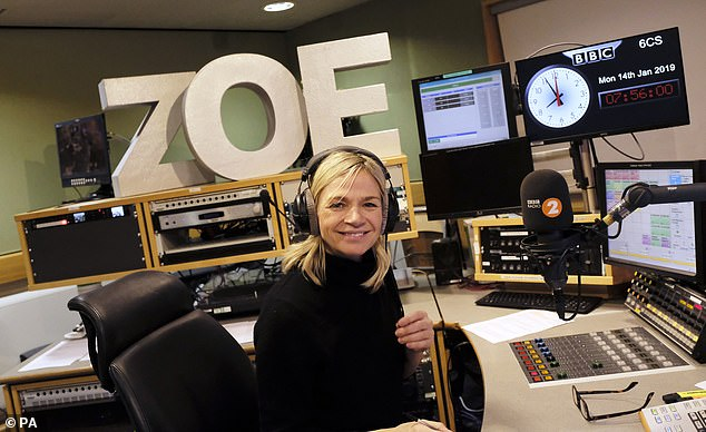 New host Zoe Ball has managed to retain a weekly audience of 9.05million for the Radio 2 Breakfast Show following the departure of Chris Evans [File photo]