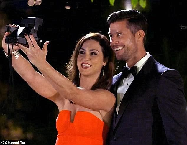 Moving on: The brunette beauty, who failed to win Sam Wood's (pictured) heart on the Bachelor, debuted her new man at a party in Watson's Bay in January, 2017