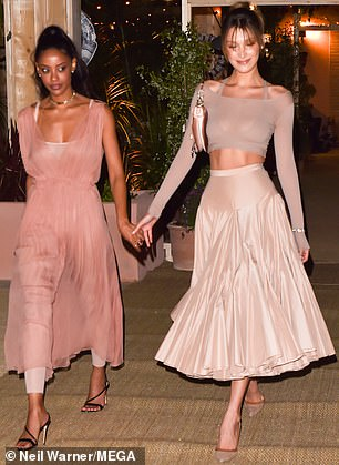 Fanny, 33, is also the PR and special projects manager for Dior Beauty, looked stunning in a blush pink dress tulle dress