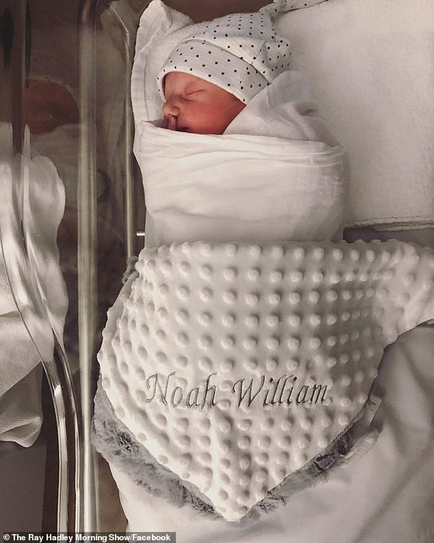 Bundle of joy! 'Noah will bring much joy to our lives, he has already,' Ray told his4BC listeners