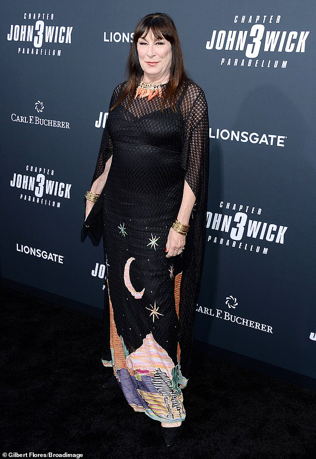 Anjelica: Anjelica Huston poses at the John Wick 3 premiere