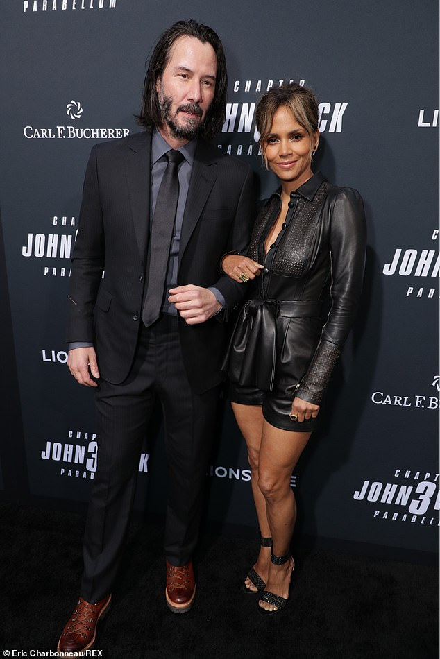 Dynamic duo: With just two days until John Wick 3: Parabellum hits theaters, Keanu Reeves, Halle Berry reunited for the Los Angeles premiere on Wednesday