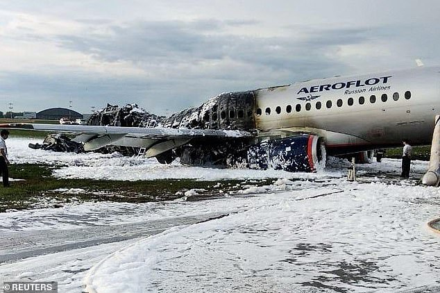 Survivors reported how people panicked as the plane stormed to the exit exits at the front of the plane, with thick smoke and flames