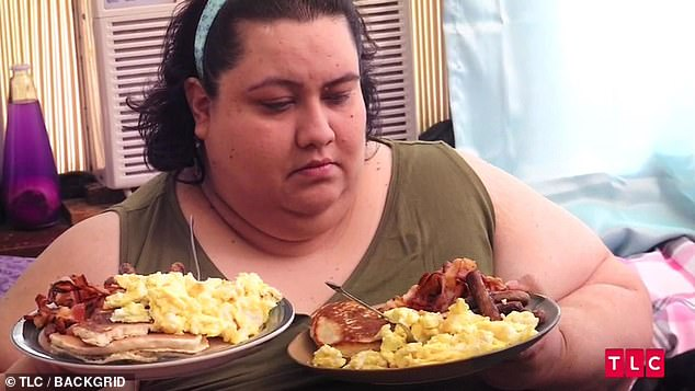 Ms Rodriguez's weight spiraled out of control after she overindulged on huge portions