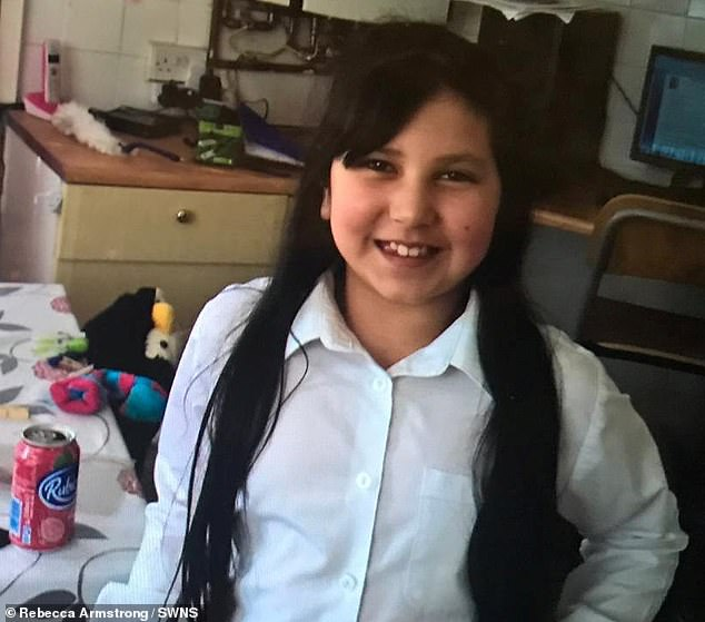 The leaflet related to a medication called olanzapine that Aliya (pictured before) was taking to help improve her psychological state surrounding eating