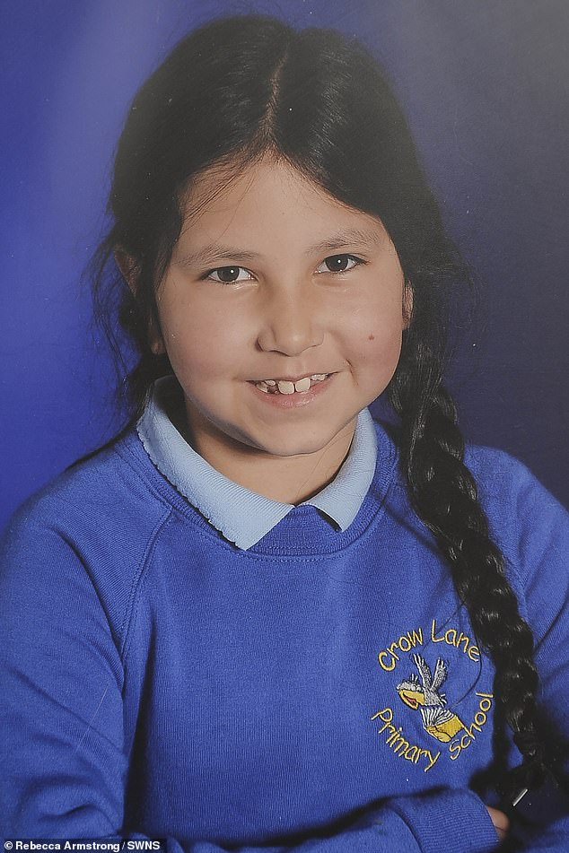 Aliya (pictured before anorexia) was bullied throughout junior school due to her eight-and-a-half stone frame. She began losing weight in secondary school in a bid to become popular
