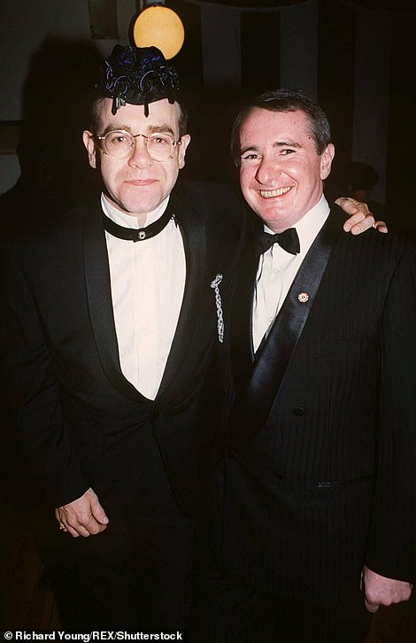 Ex lover: Elton and John were in a relationship for five years - he remained his manager until 1998