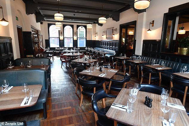 Pictured: Hawksmoor Manchester in the city centre, where a hapless waiter handed over a £4,500 bottle of wine