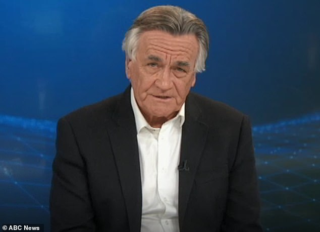 Sales' colleague Barrie Cassidy (pictured) later revealed he regretted not visiting Hawke before he died on ABC News 24