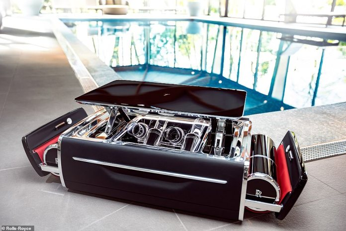 Would you care for a drink? This is the Champagne Chest - the latest option being offered to customer by luxury car brand Rolls-Royce