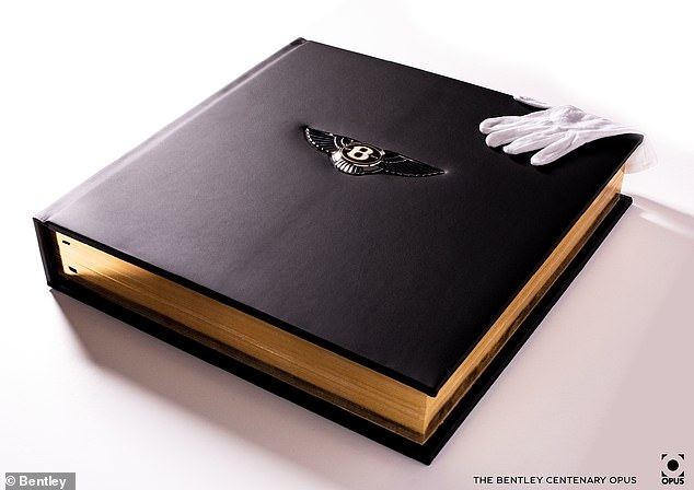 The books are created, printed and hand-bound by master binders in England, using leather hides from the same sources as those used in Bentley models
