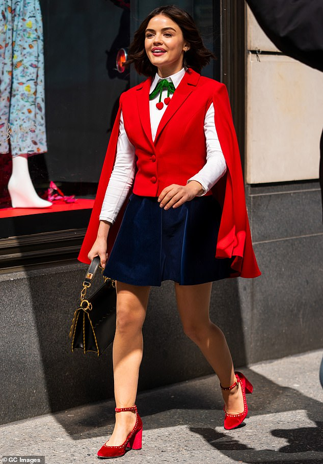 Red-y to go:Katy Keene is about an Archie Comics character of the same name who originated in 1945 as the brainchild of cartoonist Bill Woggon; seen shooting in March in NYC