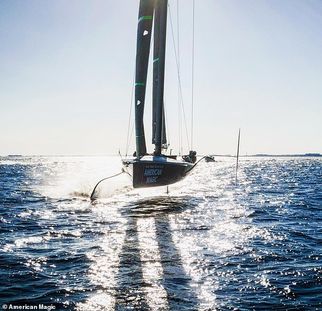 When the crew gets 'the right breeze direction' they 'can do 16 miles of sailing out of the water'.