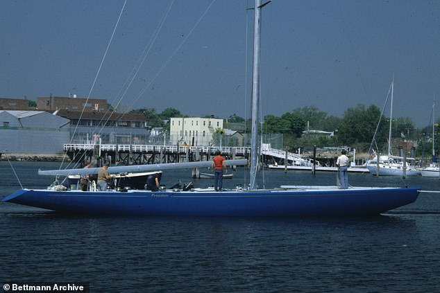 Yacht technology has certainly changed since the last time The New York Yacht Club won the America's Cup in 1980 with this vessel (pictured)