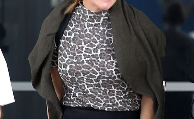 Michelle Bridges Looks Fresh Faced In A Chic Lace Skirt In