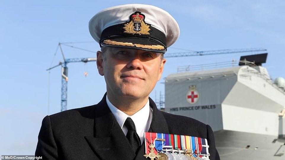 Captain Stephen Moorhouse OBE (pictured above) will take over the command of HMS Queen Elizabeth, a date has not yet been confirmed as to when he will start the role