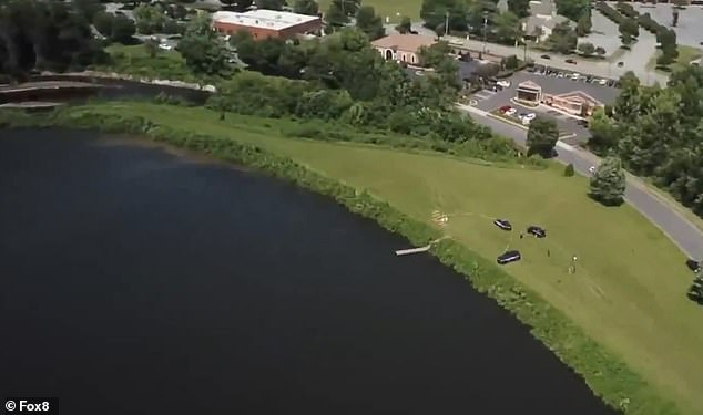 A North Carolina ninth grader tragically drowned in this private lake across from his high school on Friday afternoon