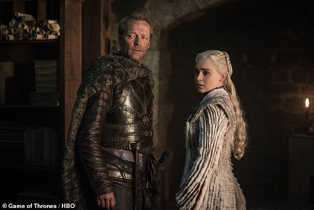Changed: The Me Before You star explained her time on the show has 'shaped [her] as a woman, as an actor and as a human being' (Pictured with Iain Glen asJorah Mormont)
