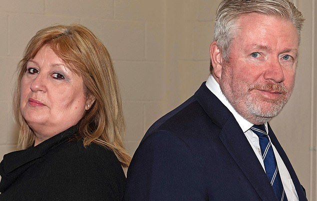 Steve Gaskin's detective company - rightangleevents.co.uk - has now been running for 12 years and turns over around £1.5 million annually. His wife Kate is an employee. Above, the husband and wife team