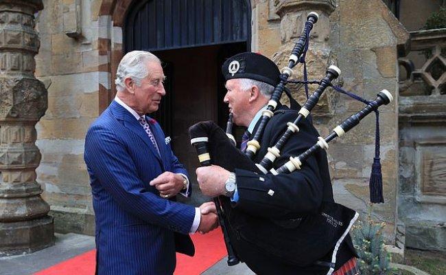 Charles Dons A Blue Velvet Kippah To Head To Belfast