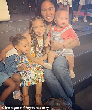 Love: The family is beloved not just for Stephen's skills on the court but how cute and accessible they are