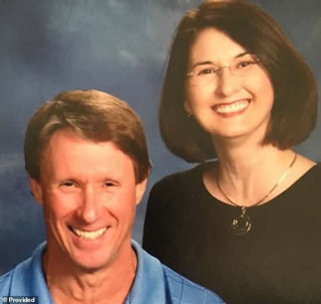 In November 2015, authorities found Calvin Phillips (left), 59, shot to death in the cellar of his home. His wife, Pamela Phillips (right), 58, was found a few miles away in a cornfield inside her burned out car